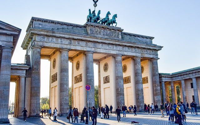 brand front of the brandenburg gate, berlin, places of interest