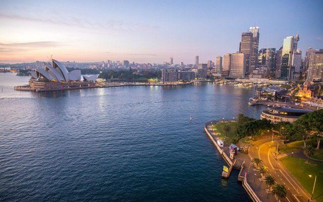 sydney opera house, dawn, sydney